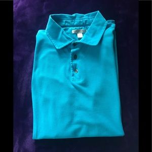 Peter Millar Blue Lagoon Tailored Fit Polo Large